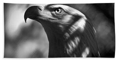 Eagle In Shadows Beach Sheet by Robert Frederick