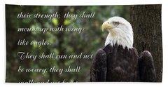Eagle Scripture Isaiah Beach Towel