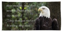 Eagle Scripture Isaiah Beach Towel