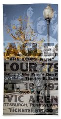 Eagles The Long Run Tour Beach Towel
