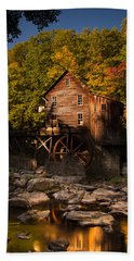 Early Autumn At Glade Creek Grist Mill Beach Sheet