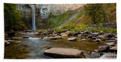 Early Autumn Morning At Taughannock Falls Beach Towel