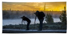 Early Birds Yellowstone National Park Beach Towel