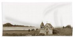 Early Carmel Mission And Point Lobos California Circa 1884 Beach Towel