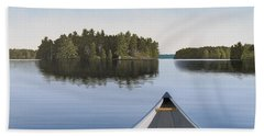 Early Evening Paddle Aka Paddle Muskoka Beach Towel