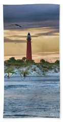 Early Evening Sky Beach Towel by Deborah Benoit