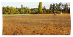 Early Fall Morning In The Rough On The Golf Course Beach Towel