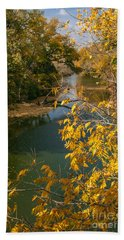 Early Fall On The Navasota Beach Towel