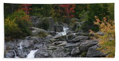 Beach Towel featuring the photograph Early Fall Waterfall by Denyse Duhaime