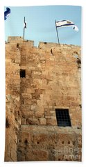 Beach Sheet featuring the photograph Early Morning At The Jaffa Gate by Doc Braham