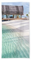 Early Morning At The Maldivian Resort 1 Beach Towel