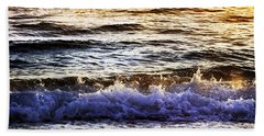 Early Morning Frothy Waves Beach Towel