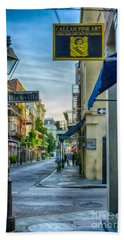 Early Morning In French Quarter Nola Beach Towel