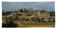 Beach Towel featuring the photograph Early Morning In Jerusalem by Doc Braham