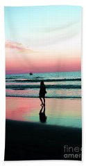 Early Morning Stroll Beach Towel by Dan Stone