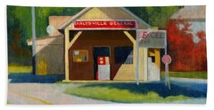 Earlysville Virginia Old Service Station Nostalgia Beach Towel