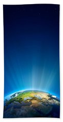 Earth Radiant Light Series - Europe Beach Towel