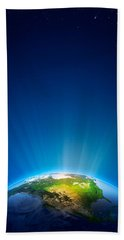 Earth Radiant Light Series - North America Beach Towel