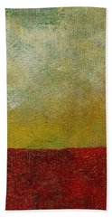 Beach Towel featuring the painting Earth Study One by Michelle Calkins