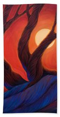 Beach Towel featuring the painting Earth  Wind  Fire by Sandi Whetzel