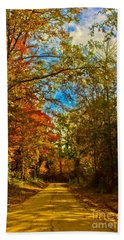 East Texas Back Roads Hdr Beach Towel