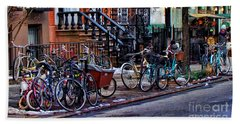 East Village Bicycles Beach Towel