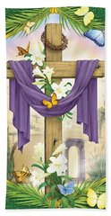 Easter Cross Beach Towel
