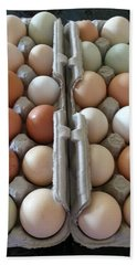 Beach Towel featuring the photograph Easter Eggs Au Naturel by Caryl J Bohn