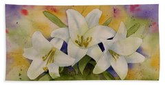 Easter Lilies Beach Sheet