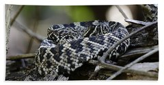 Eastern Diamondback-1 Beach Towel by Rudy Umans
