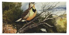 Eastern Meadowlark Beach Towel