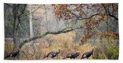 Eastern Wild Turkey  Beach Towel