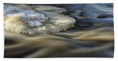 Eau Claire Dells Park River Ice Beach Towel