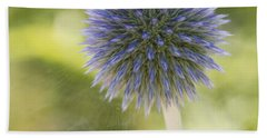 Echinops Blue Beach Towel