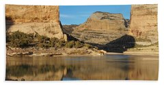 Echo Park In Dinosaur National Monument Beach Towel by Nadja Rider