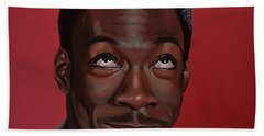 Eddie Murphy Painting Beach Sheet by Paul Meijering
