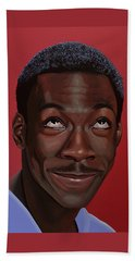 Eddie Murphy Painting Beach Towel by Paul Meijering