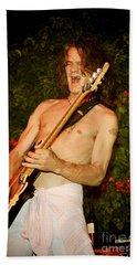 Eddie Van Halen Beach Towel by Nina Prommer