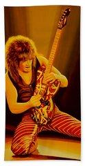 Eddie Van Halen Painting Beach Towel