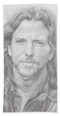 Eddie Vedder Beach Sheet by Olivia Schiermeyer