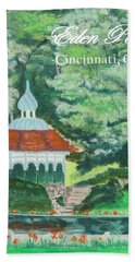 Beach Sheet featuring the painting Eden Park Gazebo  Cincinnati Ohio by Diane Pape