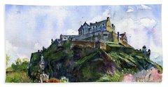 Edinburgh Castle Scotland Beach Towel