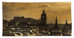 Edinburgh Dusk Beach Towel