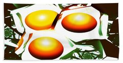 Eggs For Breakfast Beach Towel