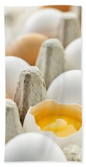 Eggs In Box Beach Towel