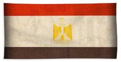 Egypt Flag Distressed Vintage Finish Beach Towel