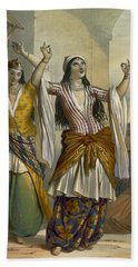 Egyptian Dancing Girls Performing Beach Towel