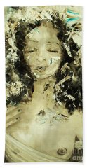 Beach Towel featuring the painting Egyptian Goddess by Laurie Lundquist