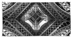 Eiffel Abstract Beach Towel