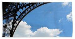 Eiffel Clouds Beach Sheet